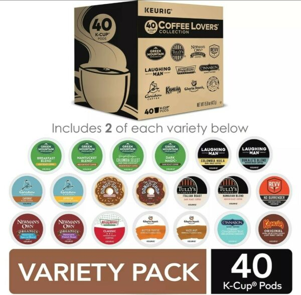 Keurig Coffee Lovers#x27; Collection Sampler Pack Single Serve K Cup Pods 40 Count