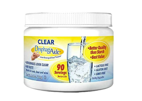 Clear Instant Beverage amp; Food Thickener Powder Dysphagia Aide 7 2022 $7.99