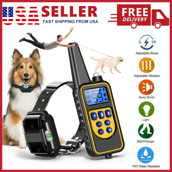 2600 FT Remote Dog Shock Training Collar Rechargeable Waterproof LCD Pet Trainer $24.99