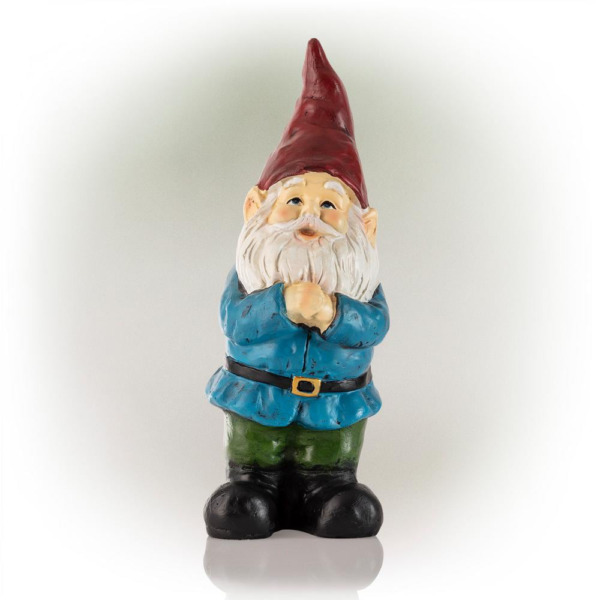 12 in. Tall Classic Outdoor Garden Gnome Yard Statue Decoration $38.48