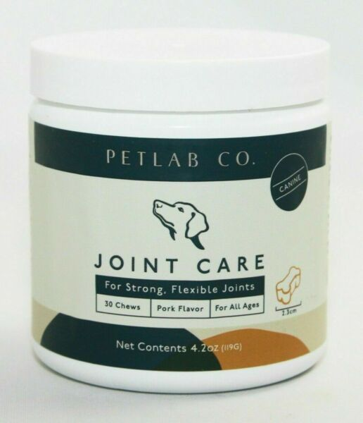 PETLAB Co. Joint Care Dogs Strong Flexible Joints Support 30 Chews Pork Flavor $22.95