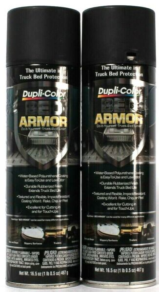 2 Ct Dupli Color 16.5 Oz Bed Armor Durable Rubberized Finish DIY Truck Bed Liner $32.99