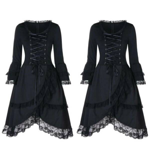 Halloween For Womens Victorian Cosplay Costume Dress Gothic Witch Fancy Dresses $45.50