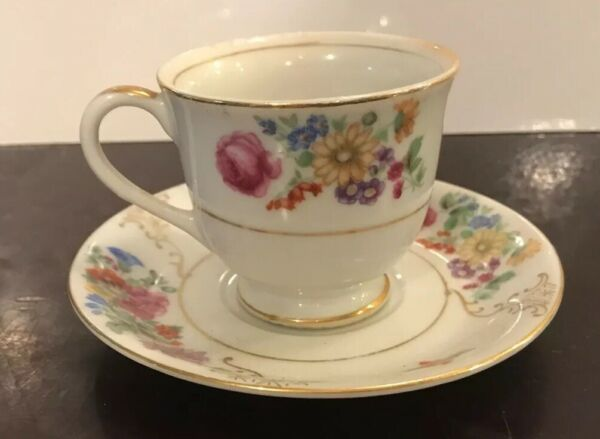 S.G.K. Tea Cup amp; Saucer Occupied Japan Free Shipping
