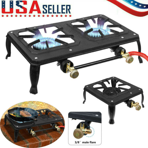 Propane Burner Stove Cooker LPG Gas Outdoor Cooking Camping Stand BBQ Grill USA