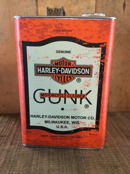 Harley Davidson Gunk Gallon CanReproduction Classic Looking Vintage Oil Can $32.00