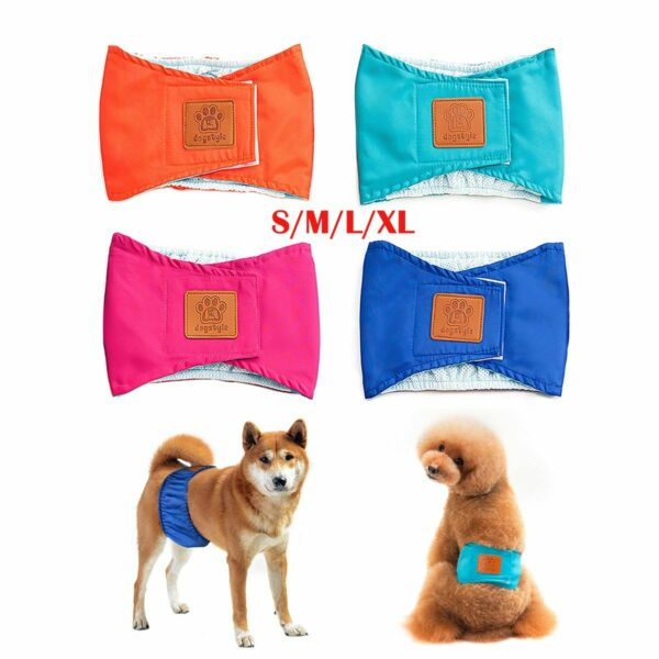 S XL Male Dog Belly Band Wraps Washable Pet Physiological Pants Diaper Wrap Soft $6.99