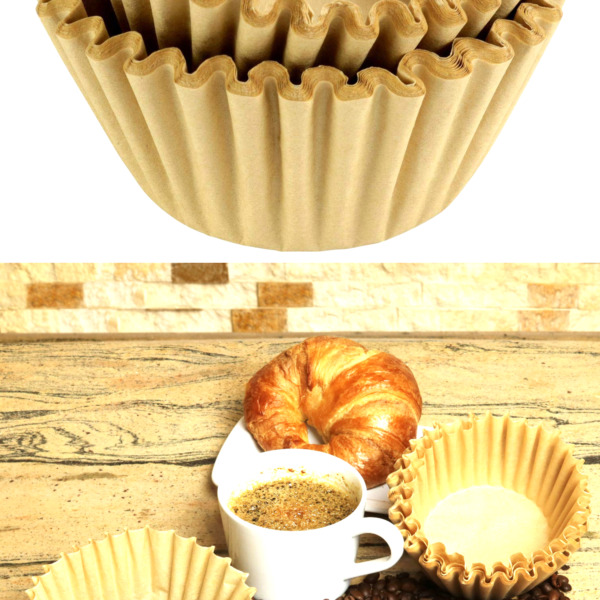 8 12 Cup Basket Coffee Filters Natural Unbleached 500 Natural Unbleached