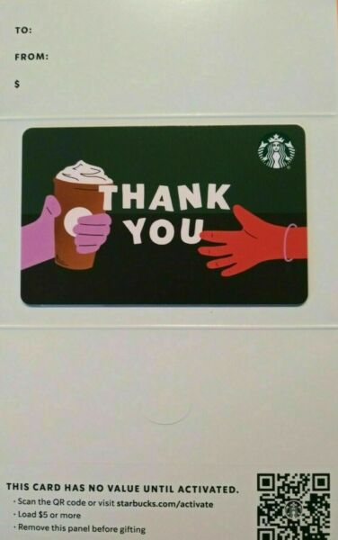STARBUCKS CARD 2021 quot; THANK YOU quot; VHTF MOUNTED ON A GIFT ENVELOPE