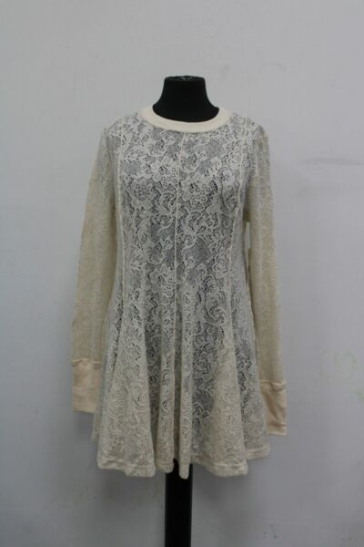 Free People Women#x27;s Coffee in The Morning Knit Sheer Dress Chamoix Small
