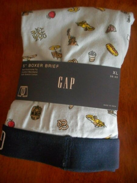 GAP NWT Men#x27;s XL 38 39 40 light blue New York 5quot; boxer brief Nonfunctional Fly $9.75