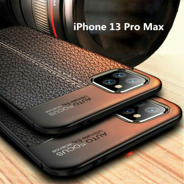 For iPhone 13 Pro Max 12 11 XS XR 8 7 Case Shockproof Leather Soft Rubber Cover $7.69