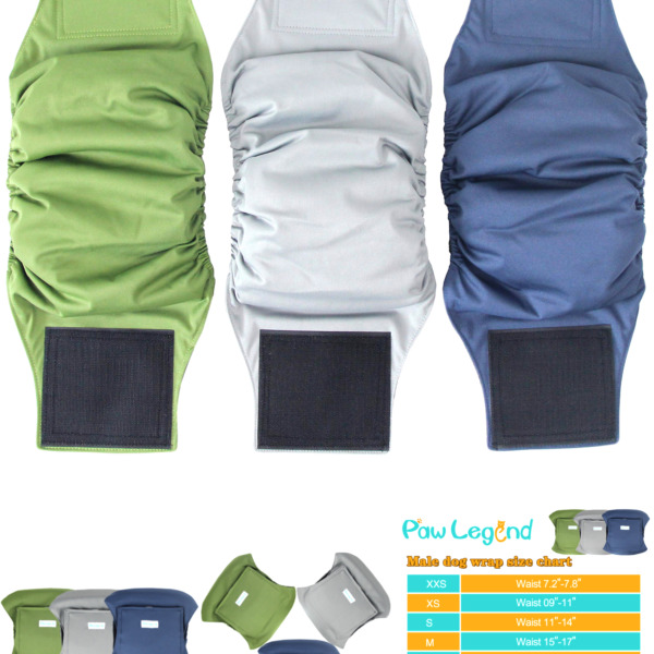 Paw Legend Washable Dog Belly Wrap Diapers for Male Dog 3 Pack $14.14