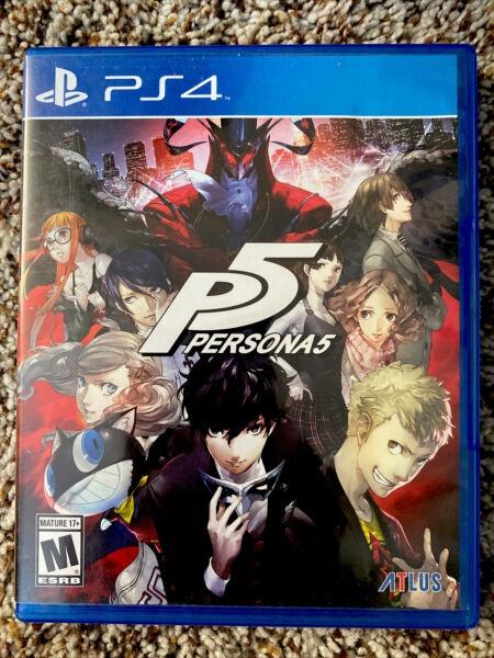 Persona 5 for PlayStation 4 PS4 Adventure Video Game Near Mint $9.99