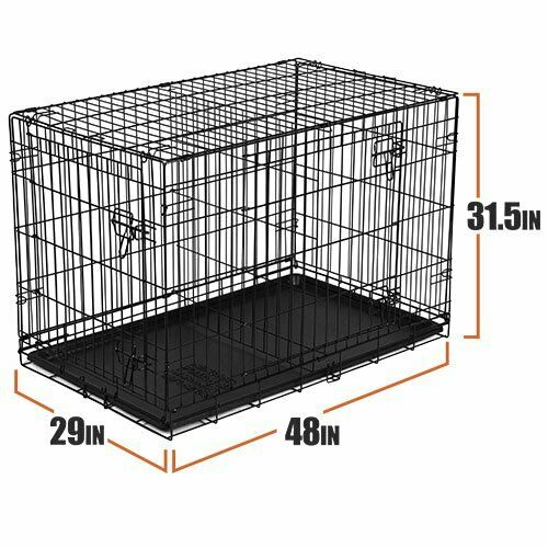 Vibrant Life Double Door Folding Dog Crate with Divider XX Large 48quot;.FREESHIP $65.00