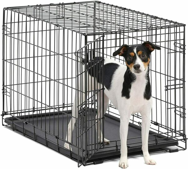 48quot; Extra Large Giant Breed Dog Crate Kennel W Divider XL Pet Wire Cage Folding $53.50