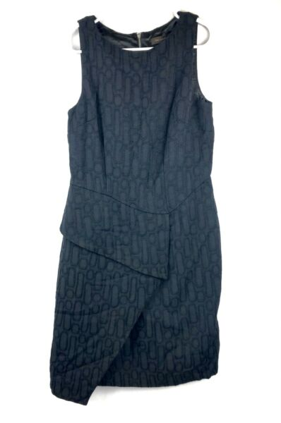 Womens The Limited Black Dress Size 2 Zip Up Sleeveless Knee Length $19.99