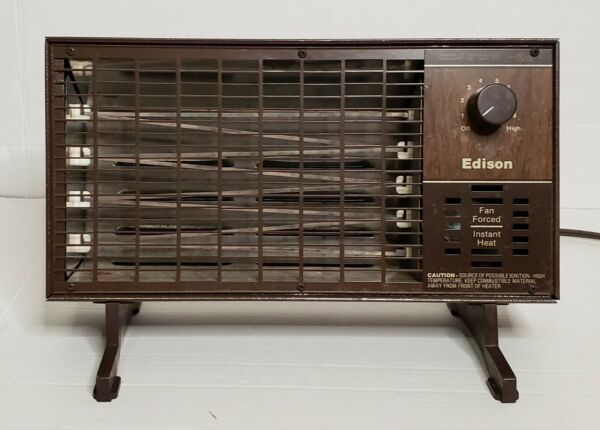 Vintage Toastmaster Inc. Edison 1320W Electric Fan Forced Instant Heater 324052B $49.00