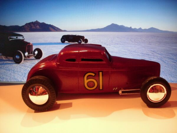 Custom AMT 32 FORD Coupe Bonneville Racer Resin 1 25 Body Only Tamp;T Productions
