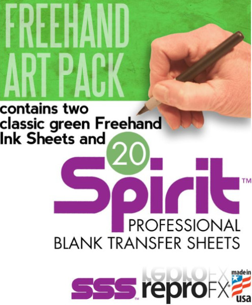 SPIRIT Tattoo 2 Classic Freehand Green Carbon Sheets amp; 20 Blank Transfer Paper $27.99