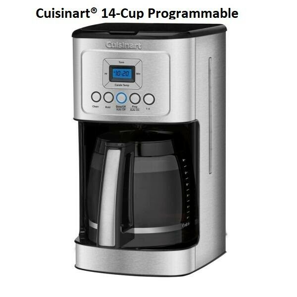 Cuisinart 14 Cup Programmable Coffee Maker DCC 3200 Stainless Steel Brand New