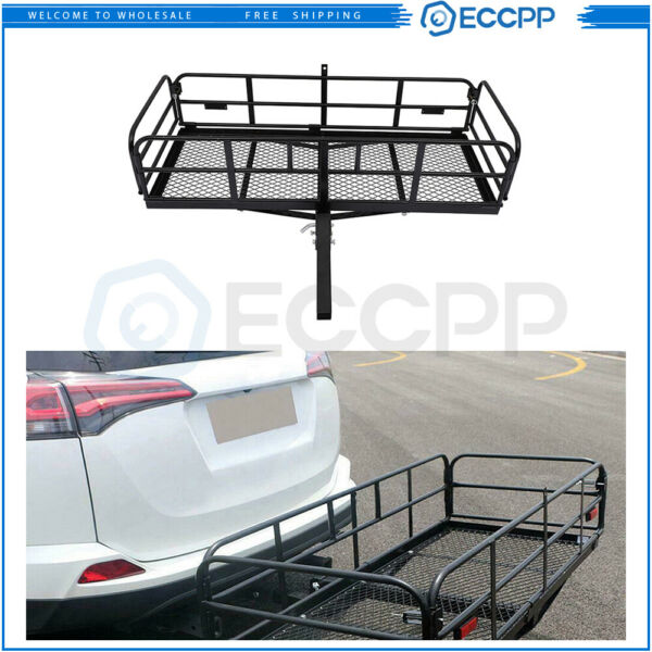 Hitch Rack Mounted Basket Luggage Baggage Carrier Cargo Universal $199.99