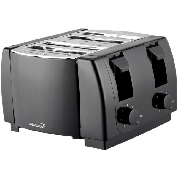 Classic 4 Slice Toaster Stainless Steel Manual Series 7 Settings Shade Crumb NEW