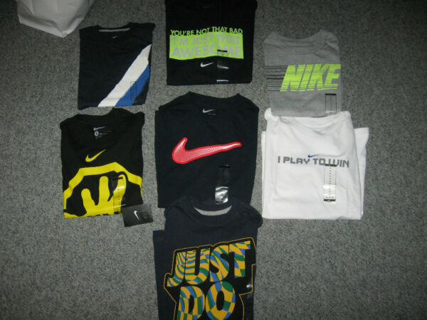 NIKE Boy's T-Shirts, Cotton/Blend, Crew Neck Short& Long Sleeve,NWT,MSRP-$18-$24