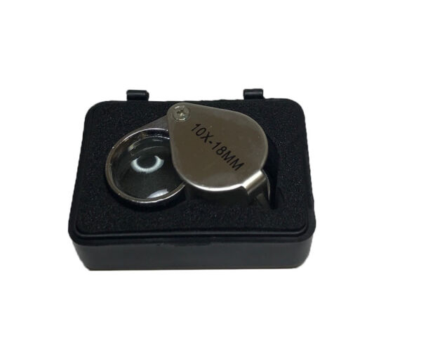 RDGTOOLS SINGLE LENS ROUND EYE LOUPE WITH 10 X 18MM MAGNIFIER CHROME