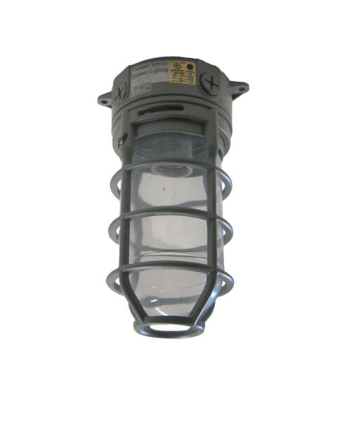 SATIN CAST ALUMINUM EXTERIOR CEILING LIGHT Orig $150