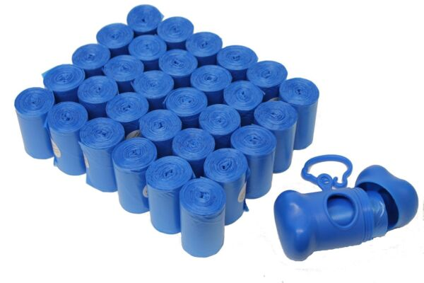 902 PET DOG WASTE POOP BAGS DISPENSER BLUE CORELESS $15.99