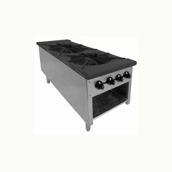 ACE Heavy Duty Dual Gas Stock Pot Ranges Stove Natural Gas 18