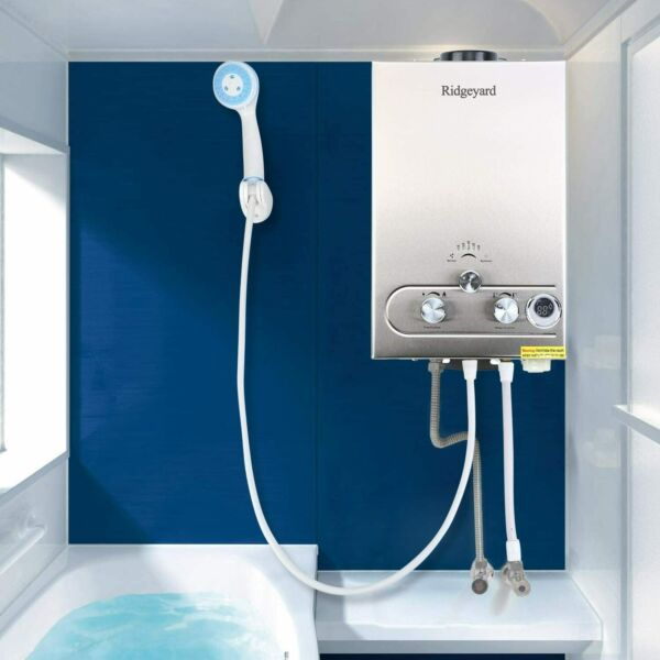 8L Propane Gas Lpg 2GPM Instant Hot Water Heater Tankless Boiler w Shower Home $100.99