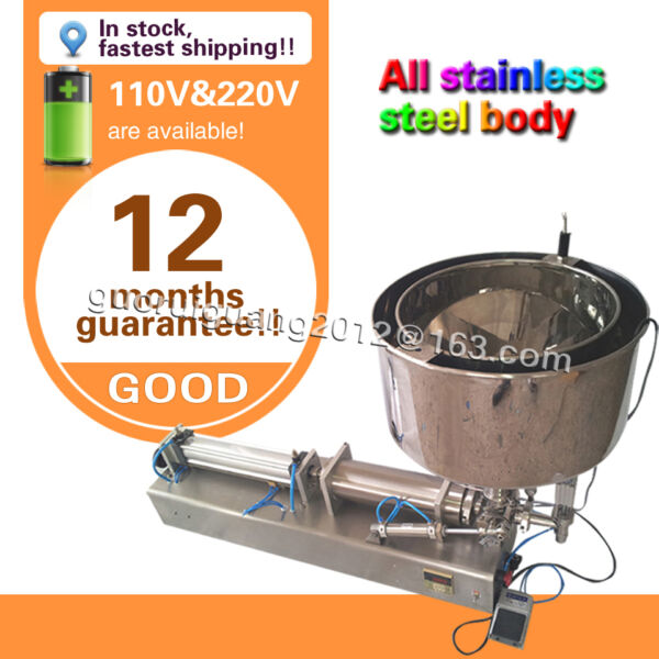 USA stock now 1000ml liquid filling machine for cream saucecosmetic with heater