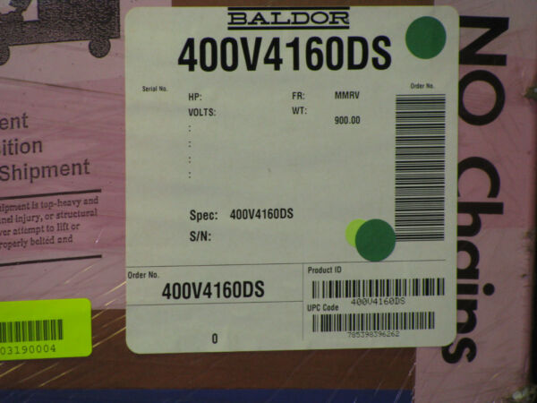 New Reliance ElectricBaldor 400HP Driver 400V4160DS  Allen-Bradley compatible