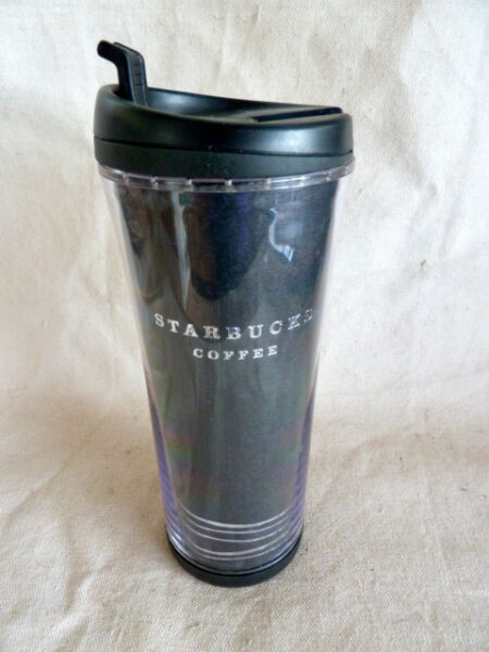 Starbucks Black & Silver Insulated Travel Coffee Mug  8