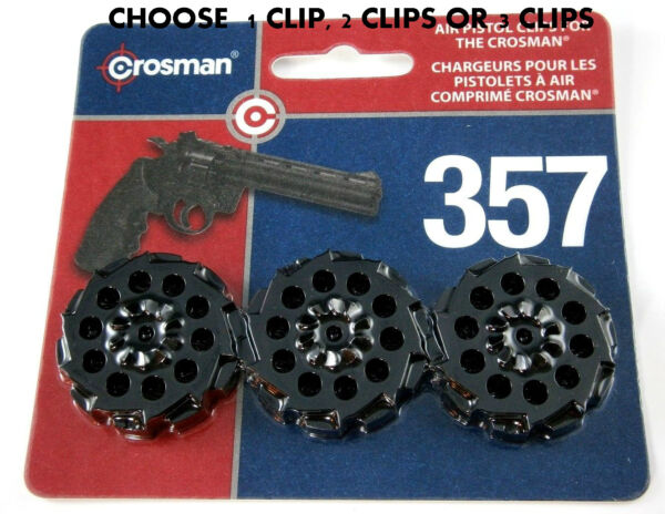 Rotary Clips 407T for Crosman 357 Pistol CHOOSE 1 2 or 3 Clips Each Holds 10 $8.98