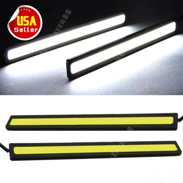 COB Xenon White 100 LED DRL Daytime Running Light Backup Interior Strip 12V 6W