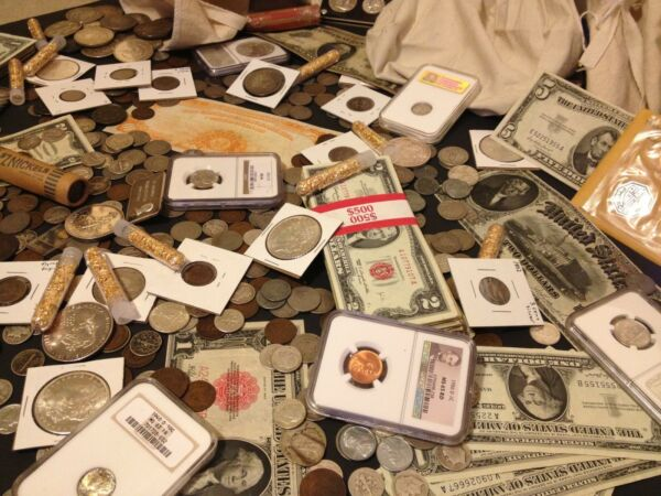 ✯ESTATE SALE LOT OLD US COINS✯CURRENCY✯PCGS NGC✯GOLD SILVER BULLION✯50 YEARS✯