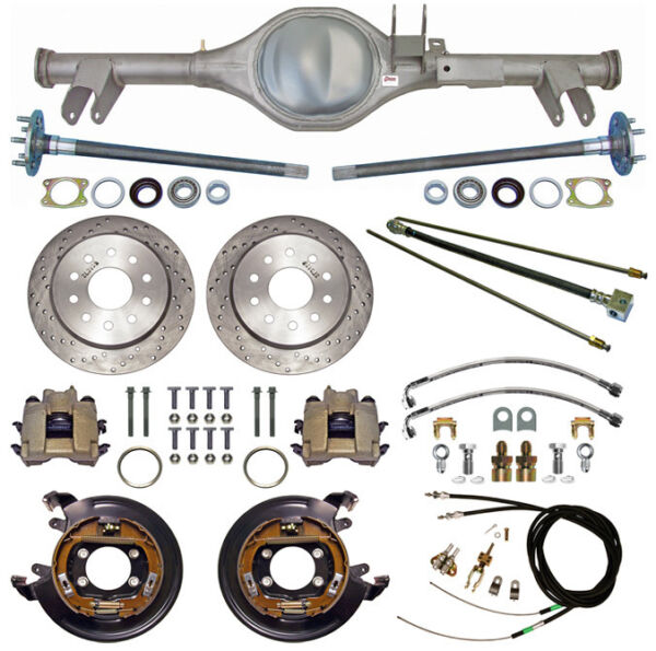 CURRIE 59-64 IMPALA REAR END & DRILLED DISC BRAKESLINESE-BRAKE CABLESAXLES++