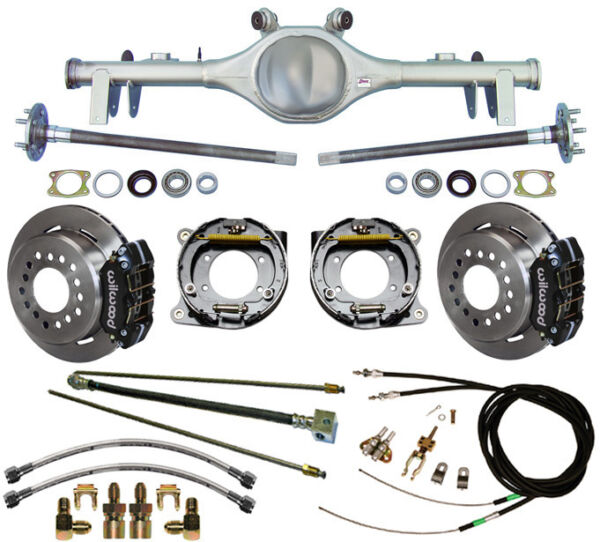 CURRIE 68-72 GM A-BODY REAR END & WILWOOD DISC BRAKESLINESE-BRAKE CABLESAXLES