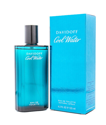 Cool Water by Davidoff 4.2 oz EDT Cologne for Men New In Box $18.94