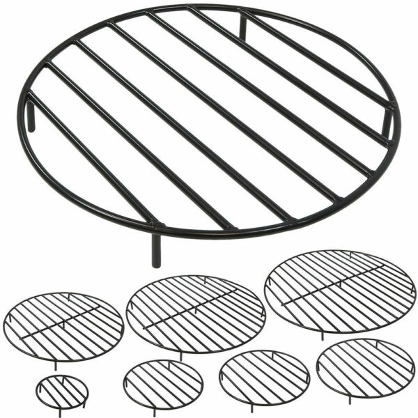 Round Steel Outdoor Fire Pit Cooking Grill Grate - FREE SHIPPING!