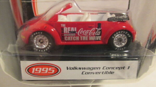 Matchbox 2002 Collectibles COCA COLA 1995 VW CONCEPT 1 BEETLE bug match box