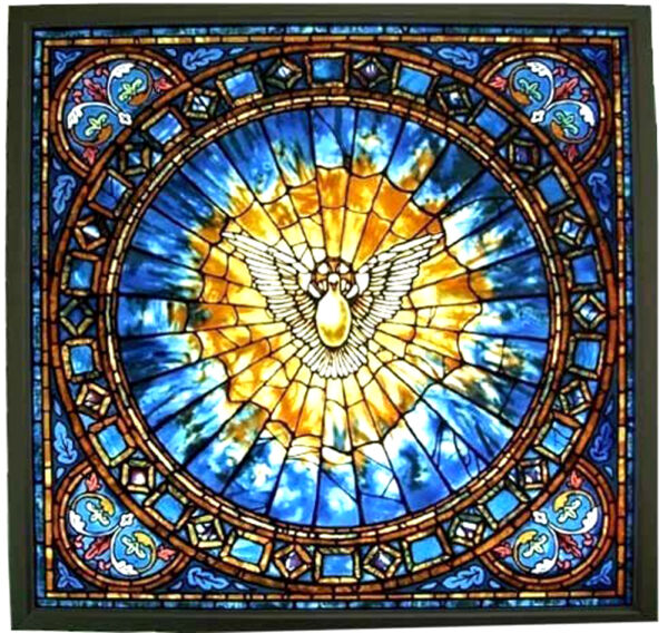Glassmasters Christian quot;The Holy Spiritquot; 7quot; Square. Stained Glass Suncatcher