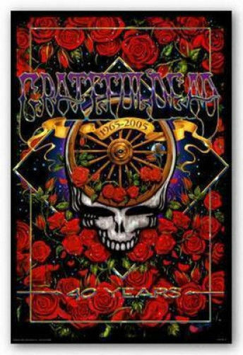 GRATEFUL DEAD - 40TH ANNIVERSARY POSTER - 24x36 SHRINK WRAPPED GARCIA BAND 9954