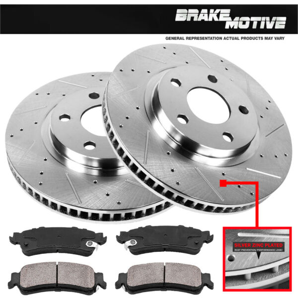 Front Brake Rotors And Ceramic Pads Fit 2003 - 2008 Toyota Corolla Matrix Vibe