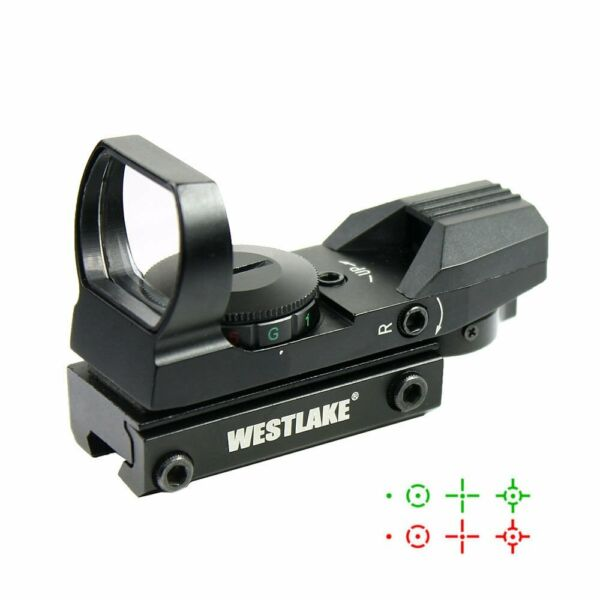 Tactical Holographic Reflex Red Green Dot Sight 4 Reticle 11mm Dovetail Mount