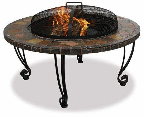 Outdoor Fire Pit Patio Backyard Garden Deck Wood Metal Fireplace Stove Heater 32