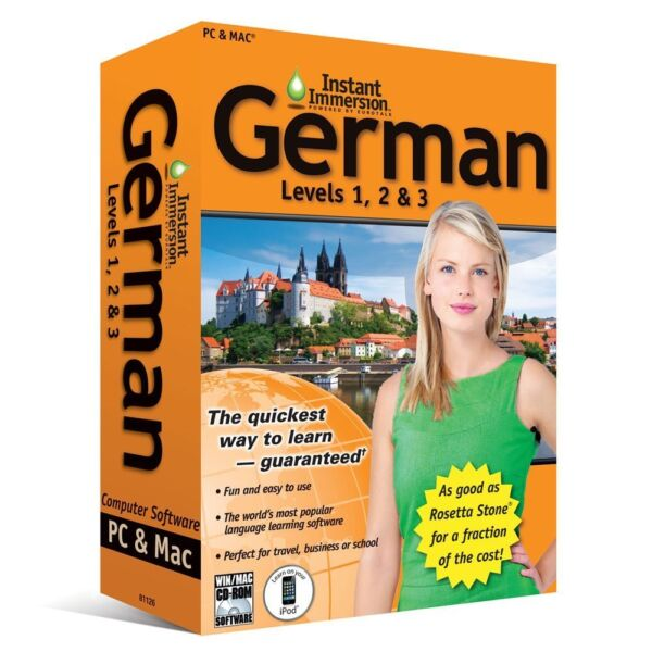 Learn How To Speak German With Instant Immersion Levels 1 3 Retail Box $9.99